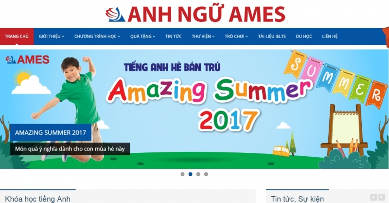 Website của Trung tâm Anh Ngữ EZ learning